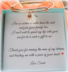 Mother of the Groom Gift, Mother in Law Gift, Mother in Law, Wedding Gift, Mother of the Bride, Futu