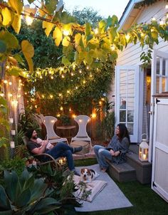 Glowing small patio design