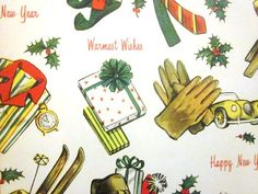 Vintage Wrapping Paper  Mod For Him Christmas by TillaHomestead, $6.50