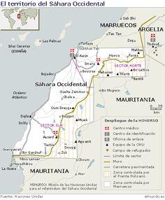 mapa del sahara occidental North Africa, Marrakech, Morocco, Spanish, Cartography, War, Amor, Las Palmas, Norte