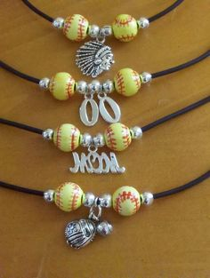 Fun personalized sports necklaces by MGDCreations on Etsy, $10.00