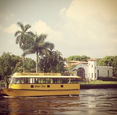 Las Olas Water Taxi enables you to enjoy the waterfront homes and restaurants!