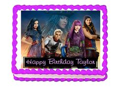 Disney Descendants 2 party decoration edible cake image cake