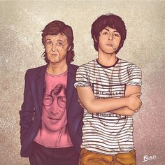 Graphic designer Fulvio Obregon gives us a glimpse of both the past and the present in his series titled Me & My Other Me. #PaulMcCartney
