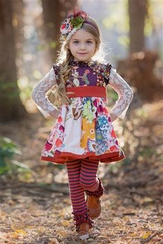 Persnickety Baby - Into The Woods Kassidy Tunic in Multi
