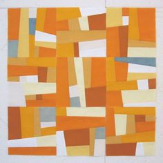 Great colors in this abstract quilt