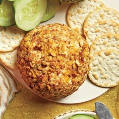Cheddar-Horseradish-Walnut Cheese Ball | You can also shape the cheese mixture into a Yule log.