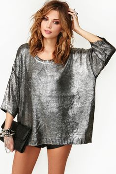 Silver Bullet Knit~must have blouse for any casual day!