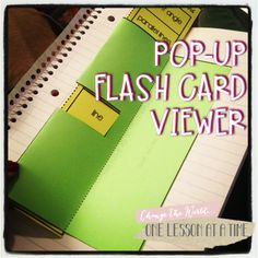 Pop-Up Flash Card Viewer! Can be used with any subject matter - perfect for math facts or terms. Directions and a free template are in the post.