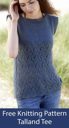 Easy Sweater Knitting Patterns, Crochet Cardigan Pattern, Knit Crochet, Crochet Tops, Knitting Terms, Knitting Projects, Top Pattern, Sleeveless Tops, Tanks