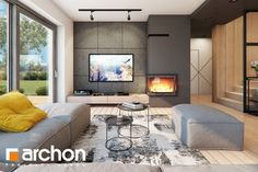 Dom w jaskierkach Modern House Design, Living Room Designs, House Plans, Interior Design, Home Decor, Travel, Blue Prints, Viajes