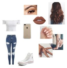 """""""Untitled #230"""" by bbgariel on Polyvore featuring Topshop, Lime Crime, Converse, Lancôme and Belkin"""