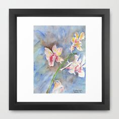 Tropical Orchid Framed Art Print by ellisewalburn Framed Art Prints, Orchids, Tropical, Collections, Painting, Home Decor, Decoration Home, Room Decor, Painting Art