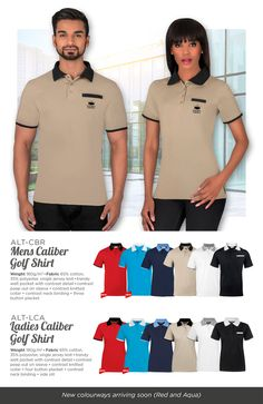 LT-CBR Mens Caliber Golf Shirt ALT-LCA Ladies Caliber Golf Shirt Mens Caliber Golf Shirt Trendy welt pocket with contrast detail Promo Gifts, Free Advice, Branded Shirts, Cbr, Corporate Gifts, Golf Shirts, Welt Pocket, Contrast, Branding