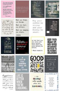 Pre-Cut Quote Stickers for Erin Condren Life Planner by PhiaSticks
