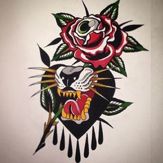Traditional Tattoo Old School, Traditional Tattoo Design, Traditional Tattoo Flash, Retro Tattoos, Old Tattoos, Body Art Tattoos, Tattoo Ink, Sailor Jerry Tattoo Flash, Old School Tattoo Designs