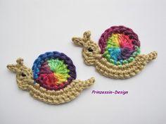 crochet inspir, craft, butterflies, crochet snail, fish
