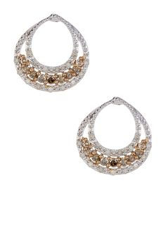 Two-Tone Champagne & White Diamond Stud Earrings - 0.50 ctw by Savvy Cie on @HauteLook