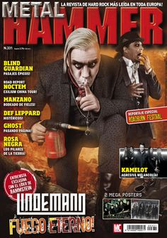 #Metal Hammer 331. Los rockeros suecos Ghost, Rammstein, Peter Tägtgren, Exilium China Tour 2015.