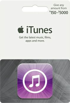 Music, movies and apps. Ready to download. iTunes Gift Cards are perfect for anyone who enjoys music, films, apps and more. They're available in different denominations and each card can be redeemed on the iTunes Store and App Store in just a few clicks. Recipients can access their content on a Mac or PC, iPad, iPhone, iPod and Apple TV.