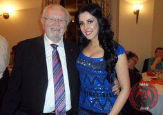 Samira with Meyrick Sheen at last night's event in Swansea