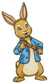 Peter Rabbit 4 machine embroidery design. Machine embroidery design. www.embroideres.com