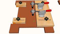 For holding small parts, routing end grain safely. Leaving adjustment by moving clamping parts to accommodate many different sizes of parts. #Sled_Coping_Router