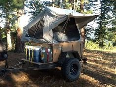 Rob over at Adventure IQ has built a nice off road version of our Explorer Box trailer and Tent Topped it with one of our MOAB tent units.