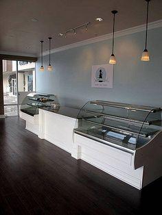 the Sweet Tooth Fairy Bake Shop - progress Más Bakery Decor, Bakery Interior, Cafe Interior Design, Cafe Design, Cupcake Shop Interior, Pastry Shop Interior, Design Design, Bakery Display, Bakery Ideas