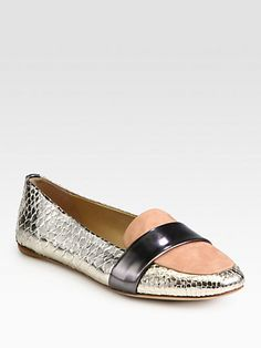Reed Krakoff // Metallic Python Drivers!! These are gorgeous, but out of my price range.