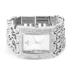 YESURPRISE Damen Modeuhr Armreifen Armkette Uhr Damenuhr Armbanduhr silber - http://autowerkzeugekaufen.de/yesurprise/yesurprise-damen-modeuhr-armreifen-armkette-uhr