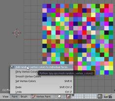 Small Blender Things: Random Vertex Colors, a simple addon