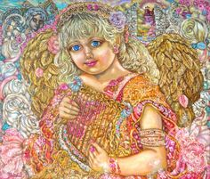 The Angel of the Herb by Yumi Sugai - Cross Stitch Pattern