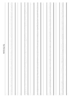 landscape writing paper for kindergarten | paper Landscape Orientation