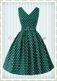 Dolly & Dotty 50er Jahre Retro Punkte Petticoat Kleid - Wendy - Petrol