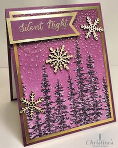 holiday card using products from Stampin' Up!'s 2015 holiday catalog; stampin' Up!; wonderland stamp set; Christine's Stamping Spot