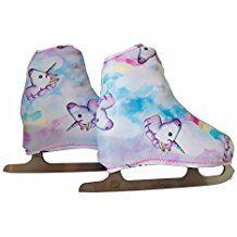 Copripattini per pattinaggio artistico a rotelle o su ghiaccio, fantasia unicorni DISPONIBILE IN TAGLIA M dal 32 al 35 Figure Skating Dresses, Backrest Pillow, Sport, Pillows, Fantasy, Skating, Deporte, Cushion, Sports