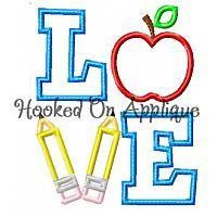 LOVE School Applique