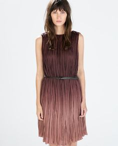 ZARA - NEW THIS WEEK - OMBRE DRESS WITH BELT