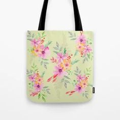 Bouquet of flowers - green Tote Bag Tech Accessories, Bouquet, Tote Bag, Green, Flowers, Bags, Design, Handbags, Bouquet Of Flowers