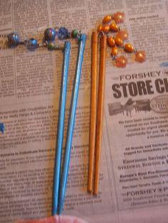 diy chopstick hair sticks
