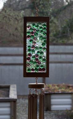 Wind Chime Green Lilac Glass Suncatcher Wind Chimes - Coast Chimes - 2