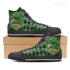 Slytherin Men High Top Canvas Shoes