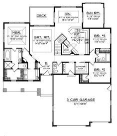 Craftsman Ranch with Sunroom 89852AH Craftsman Northwest