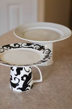 tea cup pedestal - add a sweet treat & wrap in cellohane/use as candle holder/ to hold jewellery