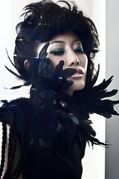 Black Feather and Lace Neckpiece/Sash by buythedress on Etsy, $75.00