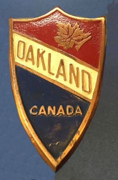 Oakland Radiator Badge