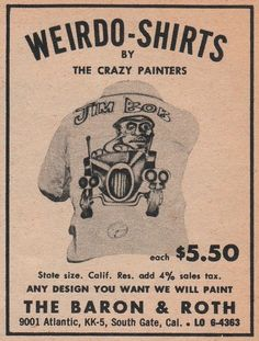 weirdo-shirts by the crazy painters