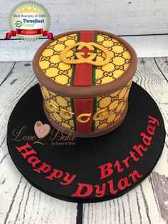 Designer box cake - June 2020 Cake Business, Cake Makers, Novelty Cakes, Box Cake, Homemade Cakes, June, Birthday Cake, Baking, Desserts