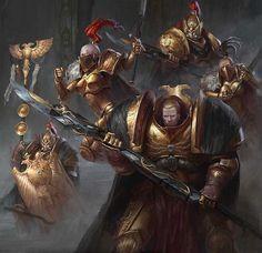 Custodian Guard and Sisters of Silence #wh40k #warhammer40k #horusheresy